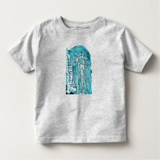 Diseño azul de la ropa del alcohol para los niños camiseta de bebé