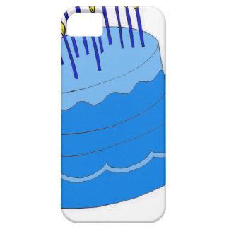 Diseño azul de la torta del muchacho del cumpleaño iPhone 5 fundas