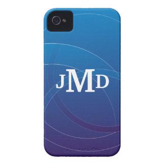 Diseño azul de las cajas intrépidas de Blackberry Case-Mate iPhone 4 Protectores