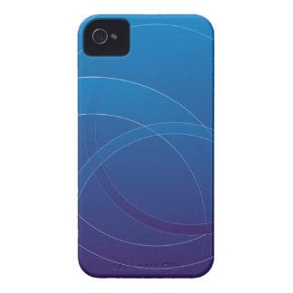 Diseño azul de las cajas intrépidas de Blackberry iPhone 4 Case-Mate Protectores