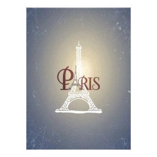 Diseño azul de París de la torre Eiffel del Comunicados Personalizados