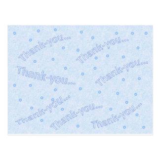 Diseño azul del de agradecimiento postal