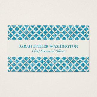 Diseño azul profesional del diamante tarjeta de visita