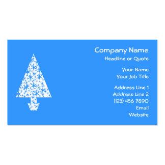 Diseño azul y blanco elegante del árbol de navidad tarjetas de visita