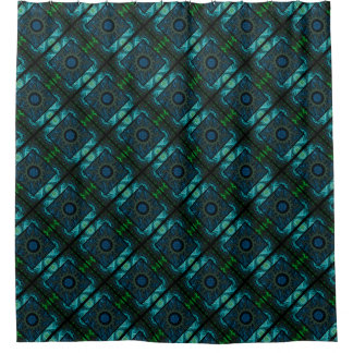 Diseño azul y verde geométrico y del fractal
