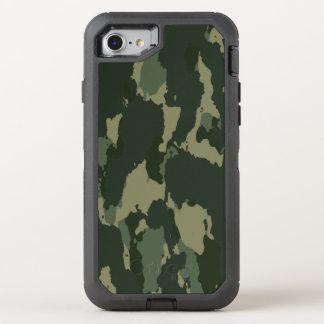 Diseño beige gris verde oscuro de Camo del Funda OtterBox Defender Para iPhone 7