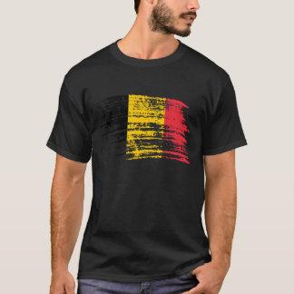 Diseño belga fresco de la bandera camiseta