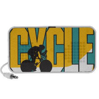 diseño biking del texto del ciclo portátil altavoz