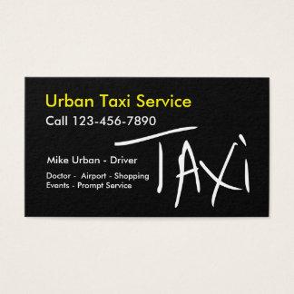 Diseño bilateral de moda del taxi simple tarjeta de visita