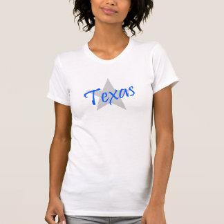 Diseño bilateral TX de Tejas que dice la camiseta