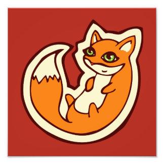 Diseño blanco del dibujo del Belly del Fox del Fotografía