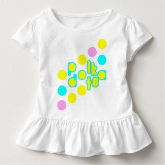 Diseño blanco del punto de la camiseta w/Polka del