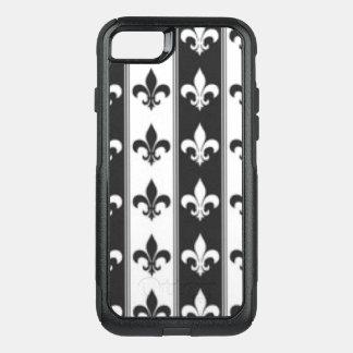 Diseño blanco negro de la impresión del modelo de funda commuter de OtterBox para iPhone 8/7