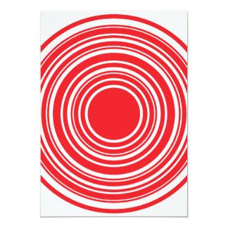 Diseño blanco rojo del ojo de toros de los invitación 12,7 x 17,8 cm