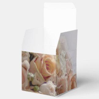 Diseño blanco subió melocotón rústico del boda caja para regalos