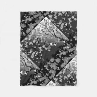 Diseño blanco y negro combinado del paño grueso y manta polar