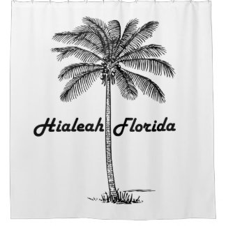 Diseño blanco y negro de Hialeah y de la palma