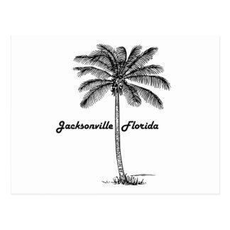 Diseño blanco y negro de Jacksonville y de la Postal