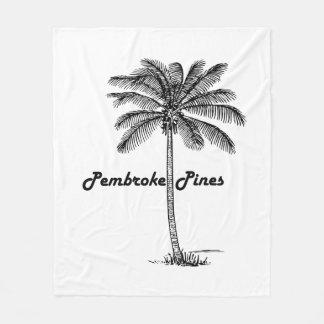 Diseño blanco y negro de los pinos y de la palma manta polar
