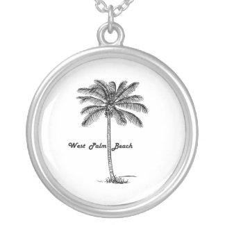 Diseño blanco y negro de West Palm Beach y de la Collar Plateado