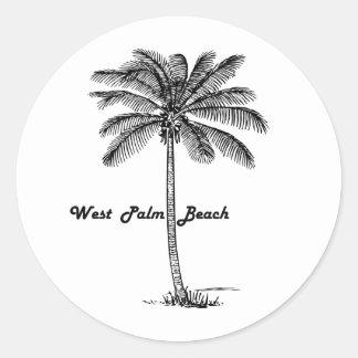 Diseño blanco y negro de West Palm Beach y de la Pegatina Redonda
