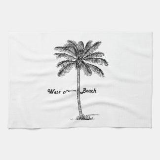 Diseño blanco y negro de West Palm Beach y de la Toallas De Mano