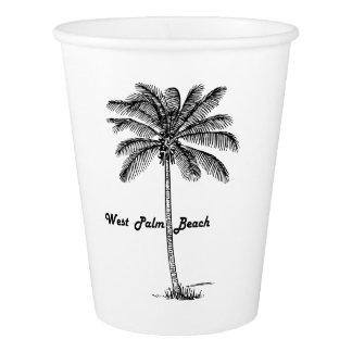 Diseño blanco y negro de West Palm Beach y de la Vaso De Papel