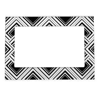 Diseño blanco y negro del art déco marcos magneticos para fotos