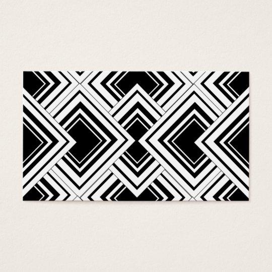 Dise o blanco y negro del art d co tarjeta de visita zazzle for Corredor deco blanco y negro