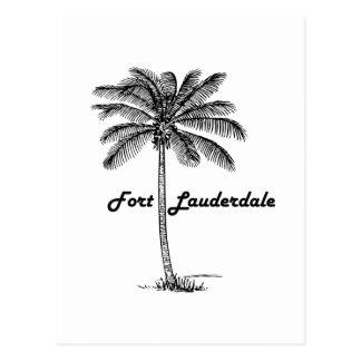 Diseño blanco y negro del Fort Lauderdale y de la Postal