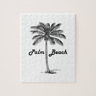 Diseño blanco y negro del Palm Beach la Florida y Puzzle
