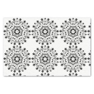Diseño blanco y negro del papel seda