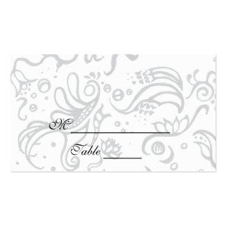 Diseño blanco y negro Placecards de la tinta de lo Tarjetas Personales