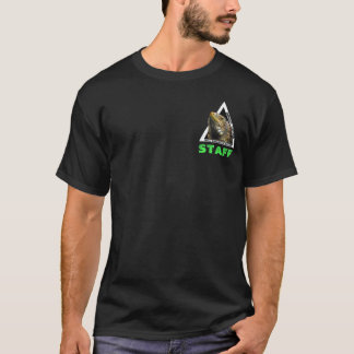 Diseño bolsillo de centro de la iguana del impacto camiseta