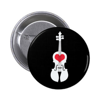 Diseño Botón-Clásico del regalo del violín Chapa Redonda De 5 Cm