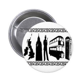 Diseño británico de los vectores de Inglaterra Pin