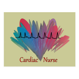 Diseño cardiaco de la enfermera QRS Postal