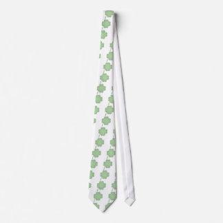 Diseño céltico del trébol de la hoja del estilo cu corbatas personalizadas