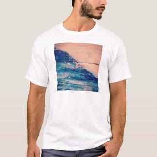Diseño chispeante de las ondas camiseta