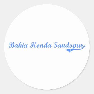 Diseño clásico de Bahía Honda Sandspur la Florida Pegatinas Redondas