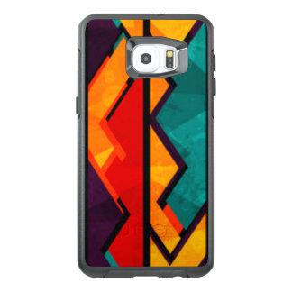 Diseño coloreado multi africano de la impresión funda OtterBox para samsung galaxy s6 edge plus