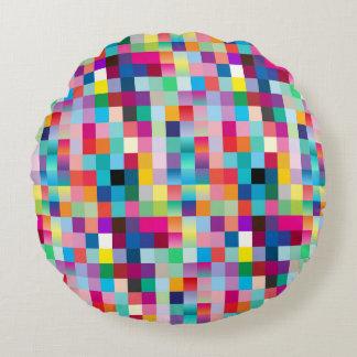 Diseño coloreado multi cojín redondo