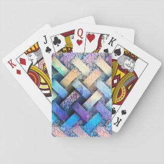 Diseño coloreado multi de la armadura de cesta barajas de cartas