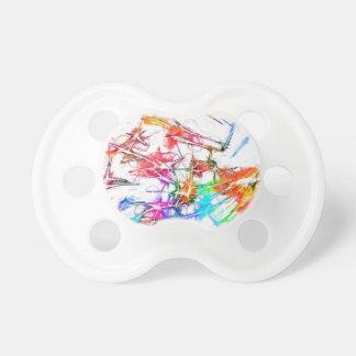 Diseño colorido abstracto chupetes para bebés