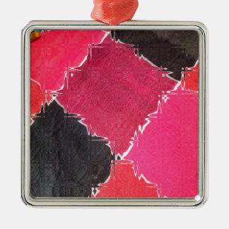 diseño colorido adorno navideño cuadrado de metal