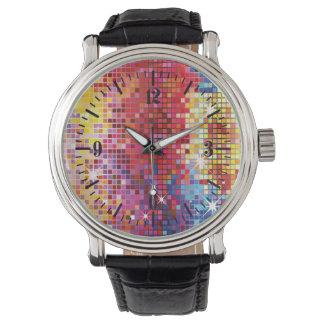 Diseño colorido de Bling Reloj De Mano