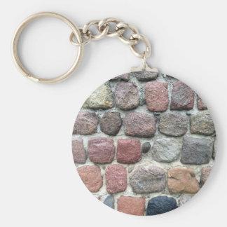 Diseño colorido de la pared de las rocas llavero