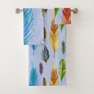 Diseño colorido de las plumas