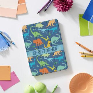 Diseño colorido de los dinosaurios a personalizar cubierta para iPad pro