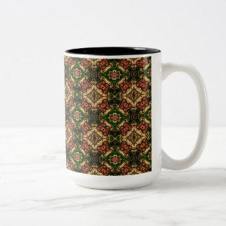 Diseño colorido del Arabesque en tazas grandes